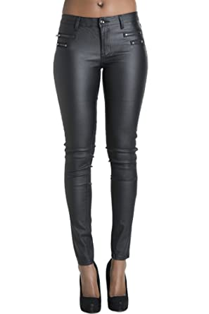 97c35a6a16296 2016 new fashion Hot Sexy Womens Faux Leather Wet Look PU Tight Shiny Pants  Black trousers