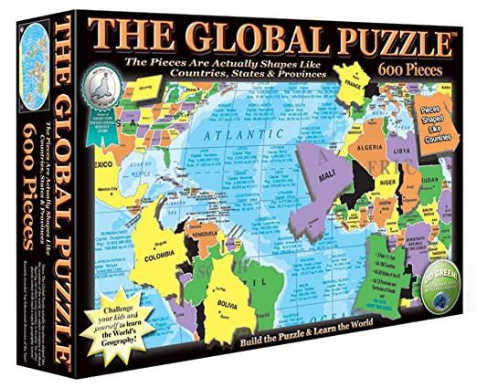 Amazon the global puzzle 600 piece toys games gumiabroncs Choice Image