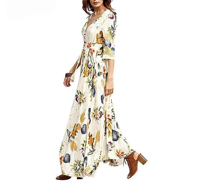 latest selection best choice best place Women's Dresses Summer Dress 2018 Maxi Sundress Button up ...