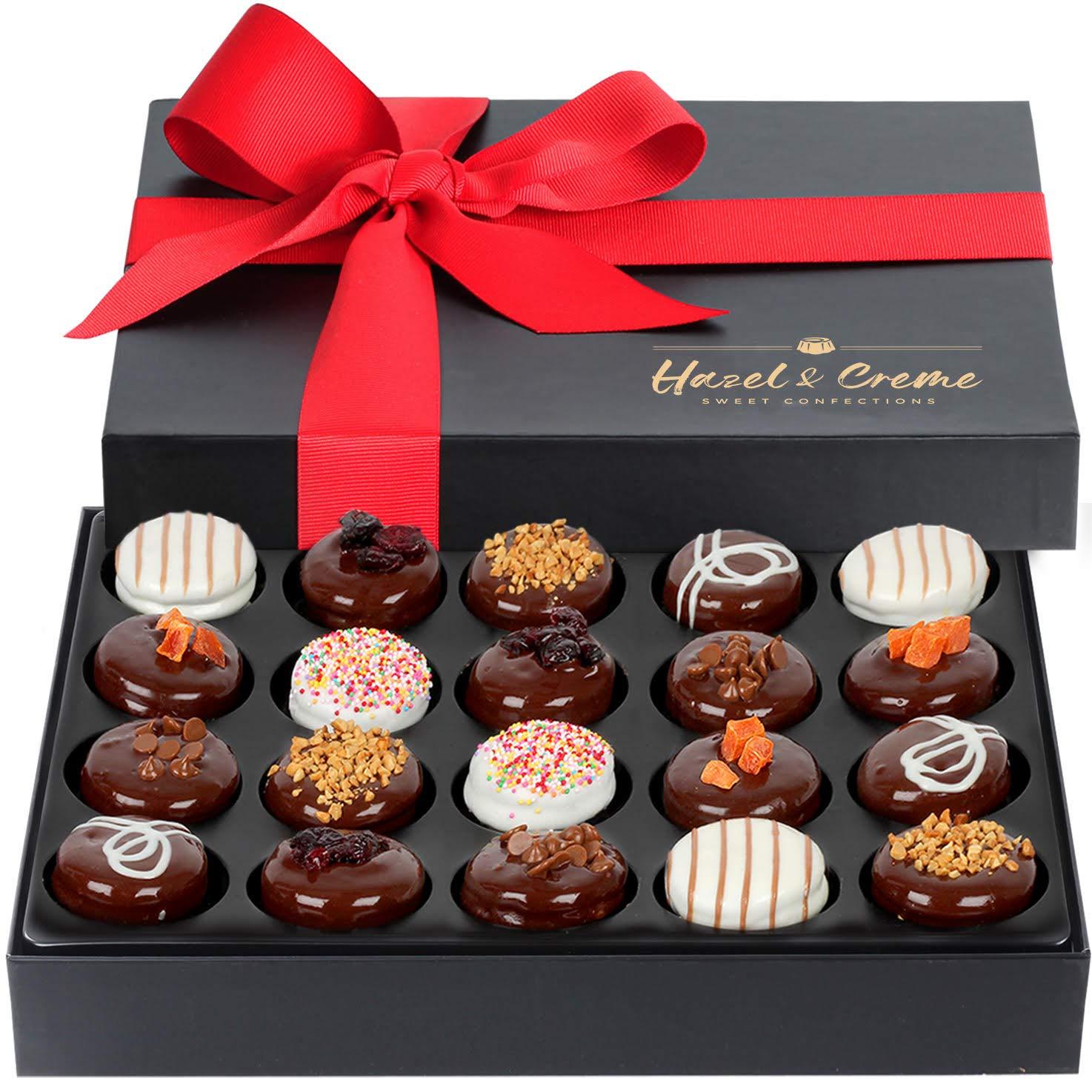 Hazel & Creme Cookies Gift Box - 20 Cookies - Gourmet Food Gift - Chocolate Cookie Gift Basket - Anniversary, Holiday, Corporate, Birthday Gift