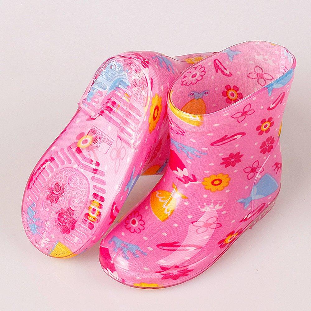 ZEVONDA Boy and Girl Non-Slip Anti-Collision Water Shoes Multicolor Rain Boots