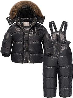 ZOEREA Chaqueta de esquí para niñas Chaquetas niña Abrigos + Pantalones de Nieve Invierno Ropa Set 2 Piezas