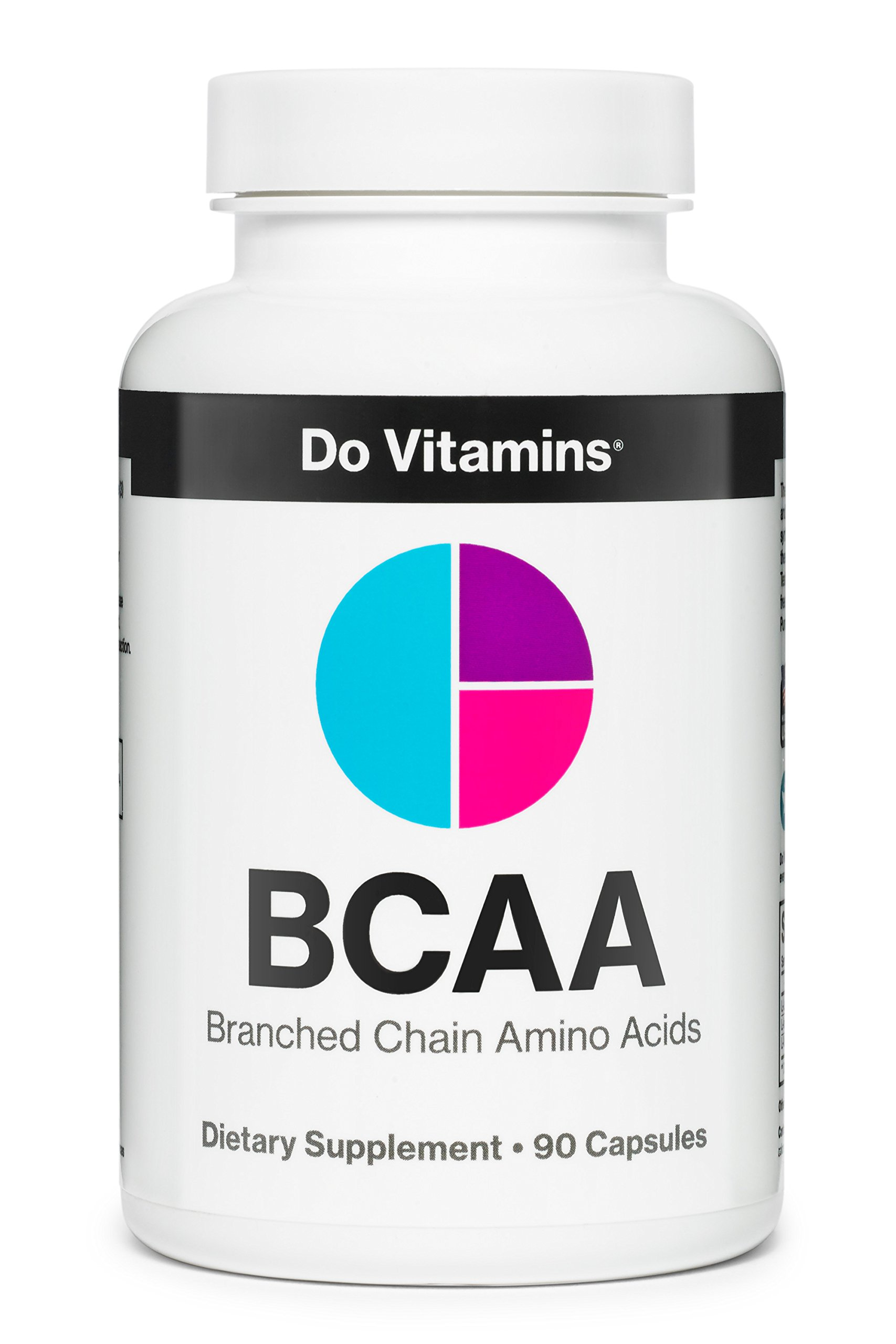 Do Vitamins Natural BCAA Capsules - Ranked #1 Best BCAA Supplement - Pure Plant Based Branched Chain Amino Acids, Vegan BCAA Pills for Muscle Growth & Recovery, 2:1:1 2100mg (90ct)