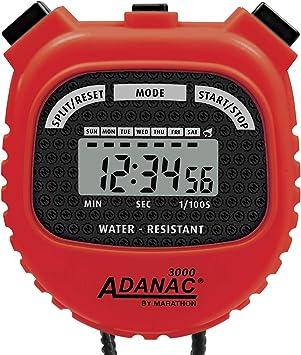 TALLA 2.2 Inches. Marathon Adanac 3000Digital cronómetro Temporizador con Pantalla Extra Grande y Botones, Resistente al Agua