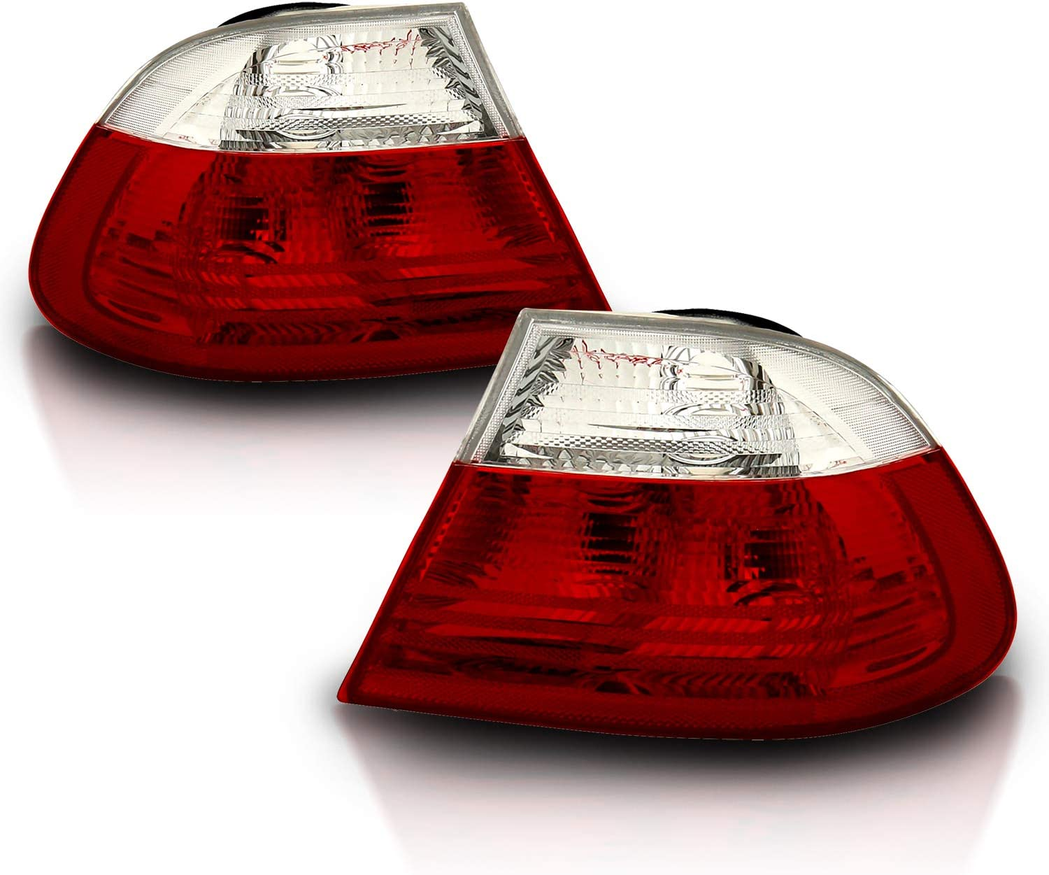 Set of Red Smoke LED Taillights 4pcs for 2000-2003 BMW E46 3-Series 2dr Coupe