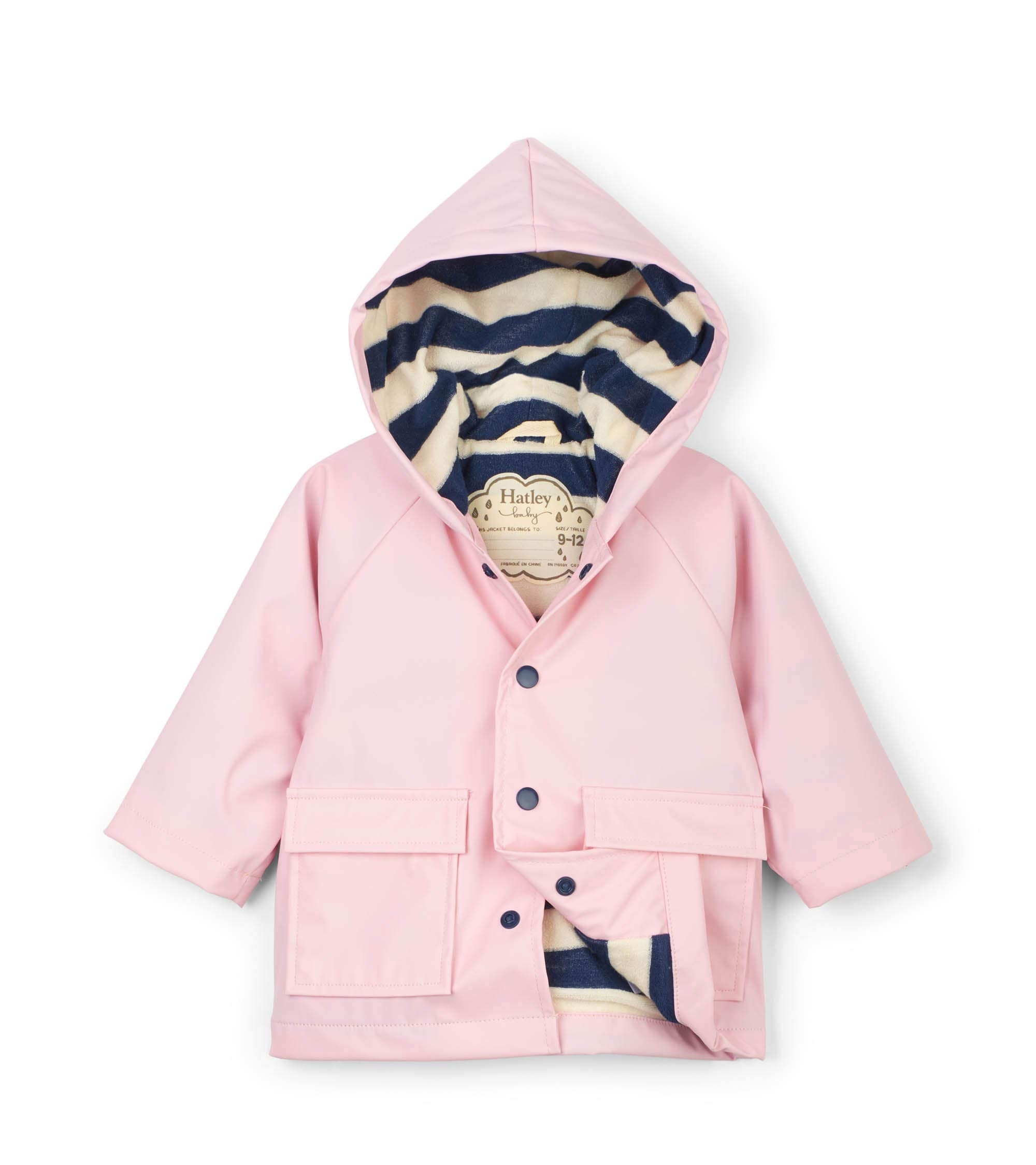 Hatley Baby Girls Printed Raincoats, Pink, 9-12 Months by Hatley