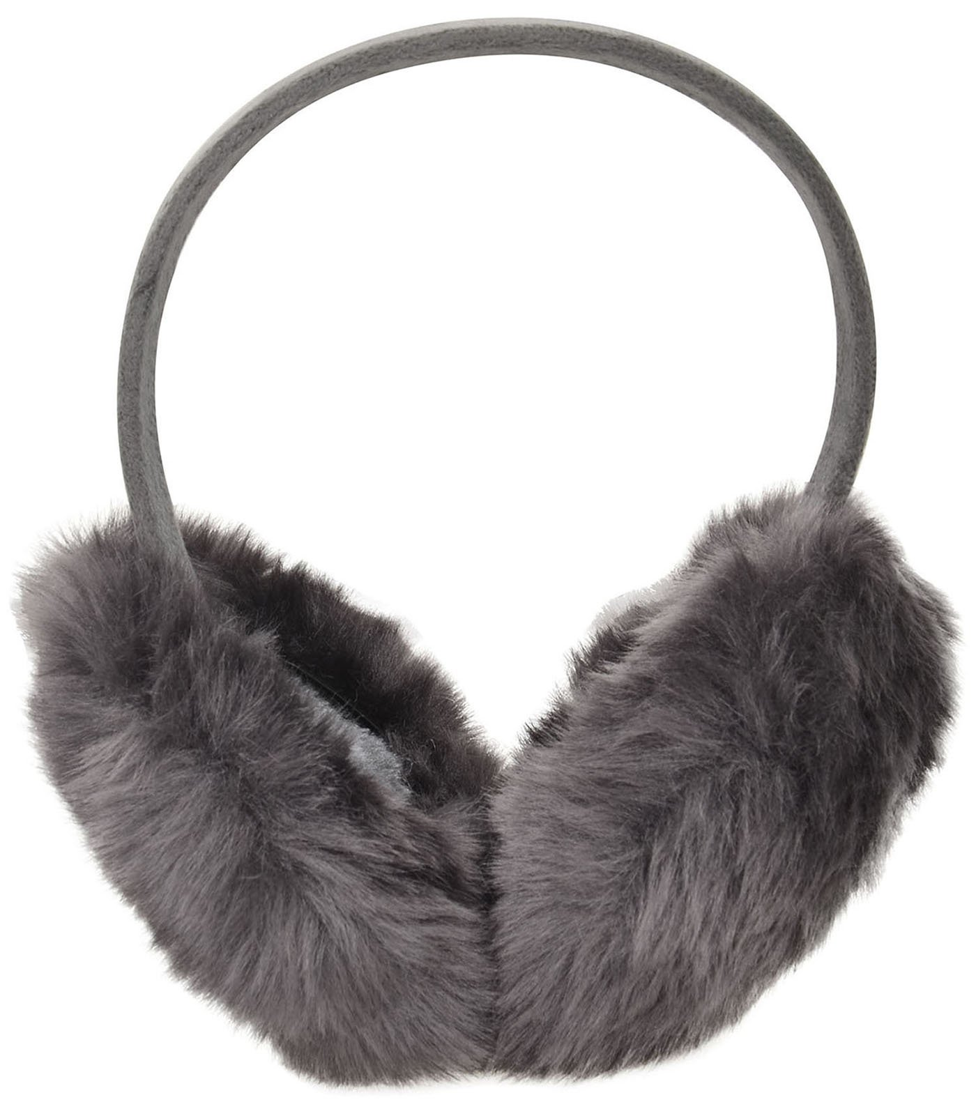 Livingston Simple Classic Faux Furry Warm Winter Outdoors Ear Warmer, Dark Grey