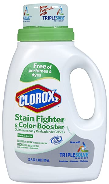 Clorox 2 Liquid Concentrated Color Safe Bleach, Free & Clear, 33.8 oz-2