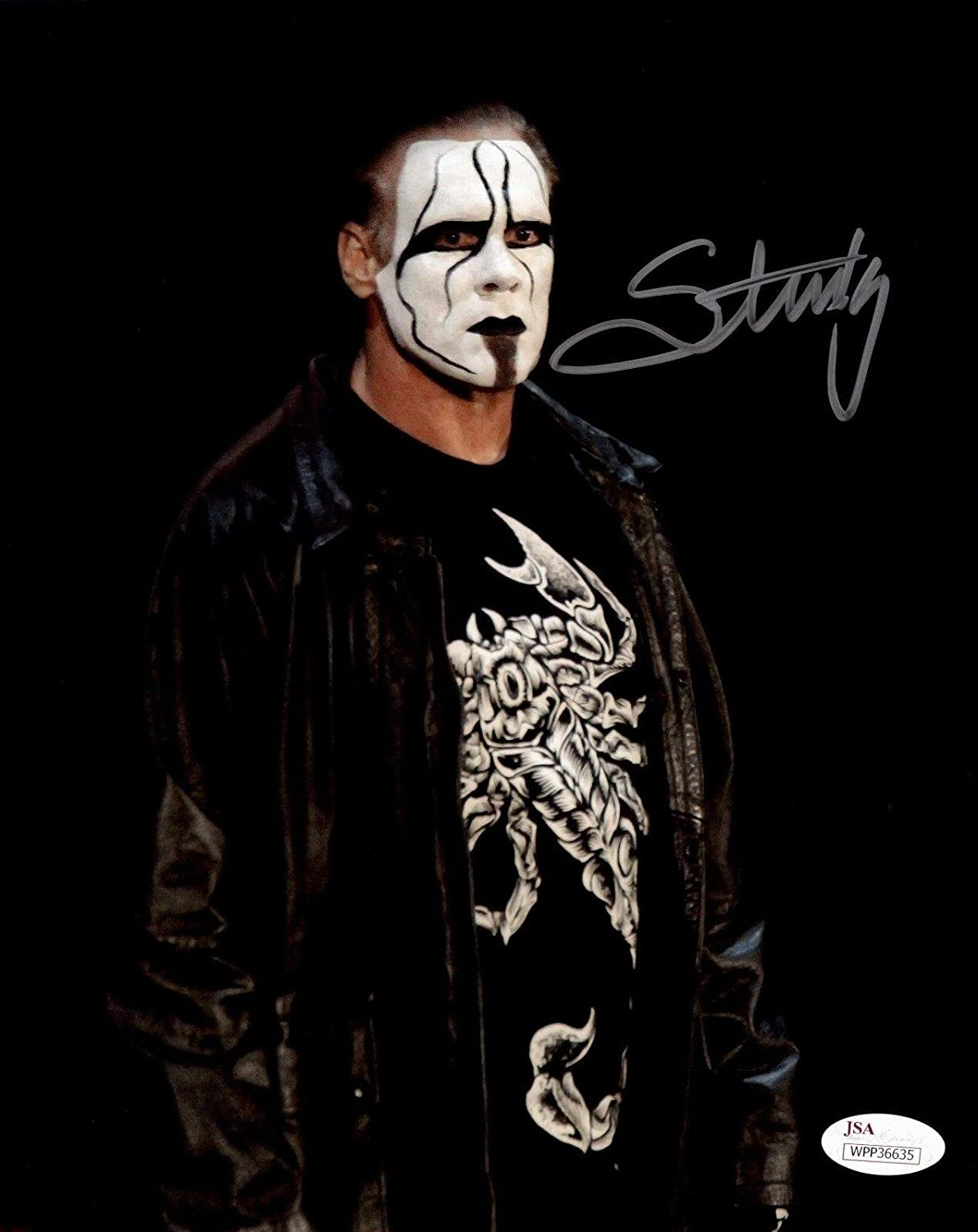 sting tna wwe wcw signed autographed 8x10 photo authenticated 12