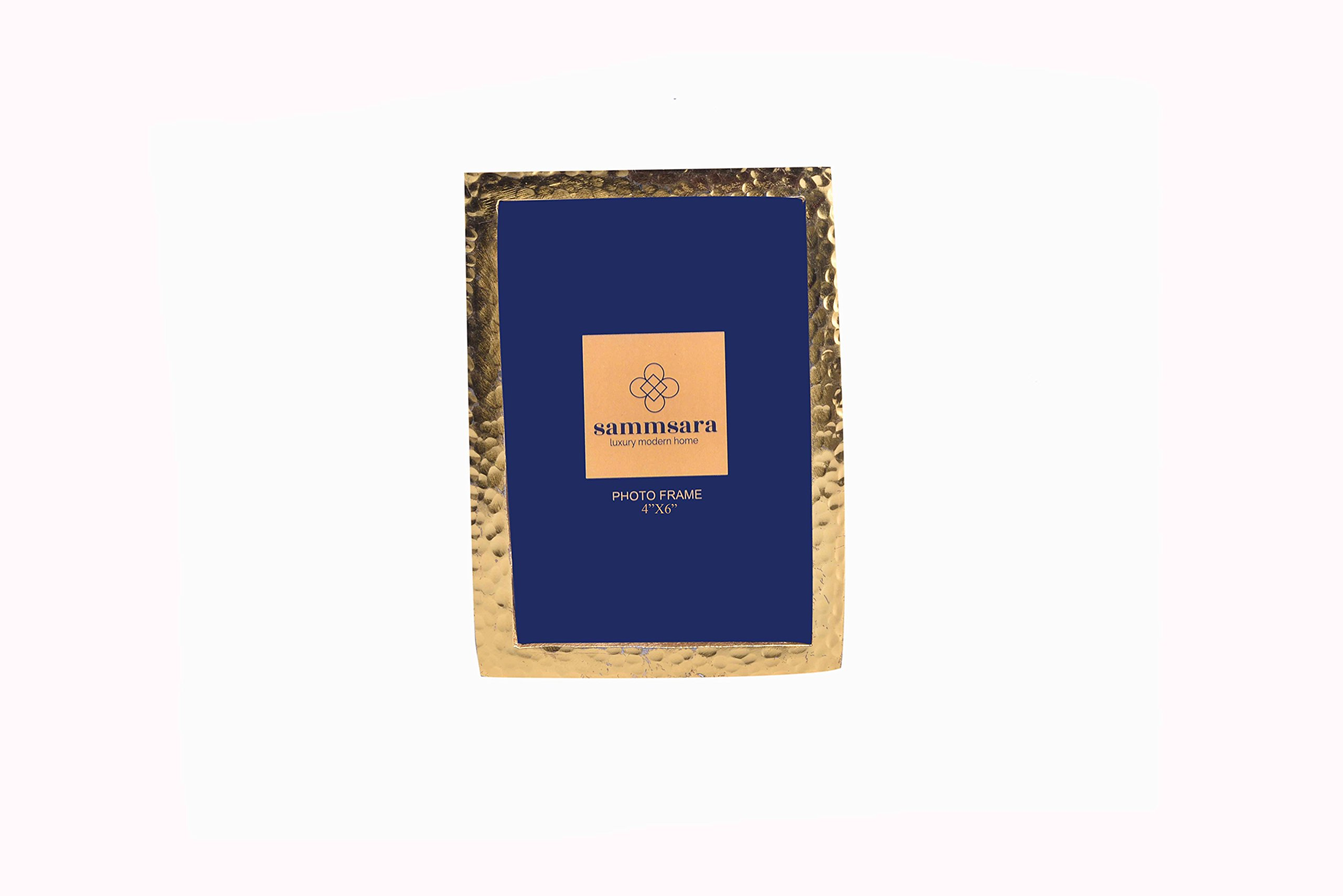 "Gabriel Gold Hammered Photo Frame Small 4X6"" Photosize with Free Beautiful Gift Box by Sammsara (Image #2)"