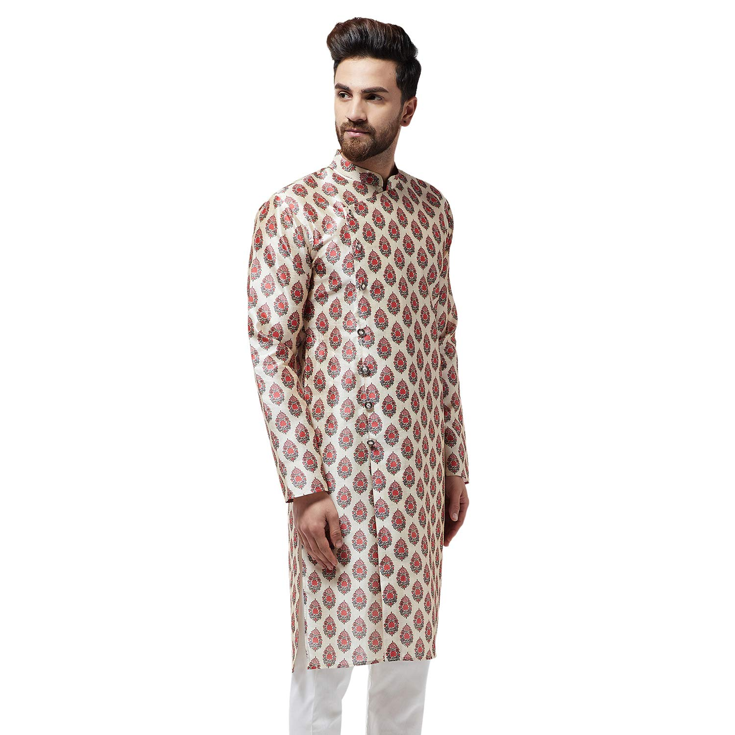 Festival-Men-Dupion-Silk-Kurta-Pajama-Ethnic-Party-Wear-Bollywood-Dress-Pyjama thumbnail 35