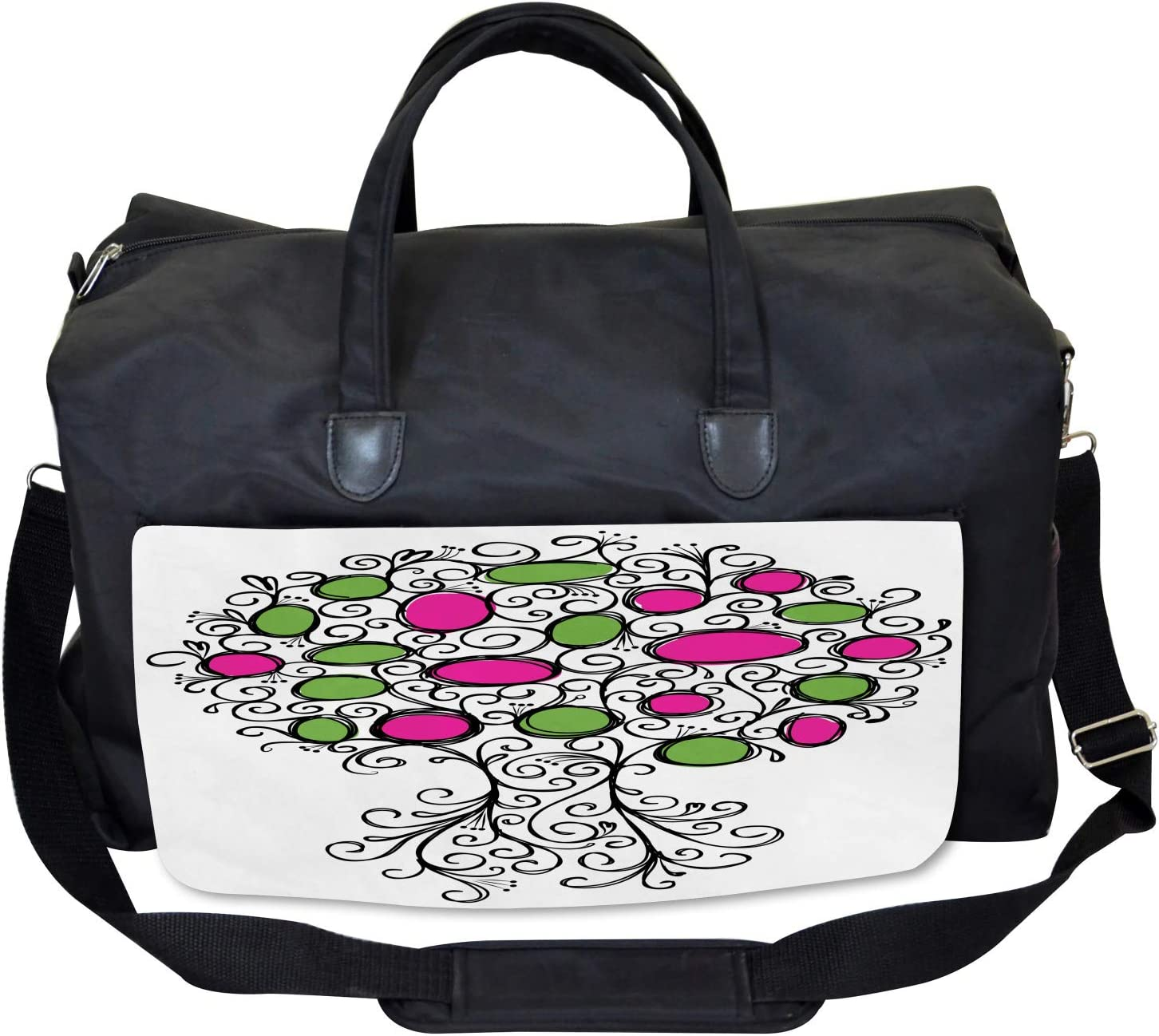 Pink Green Spring Tree Ambesonne Colorful Gym Bag Large Weekender Carry-on