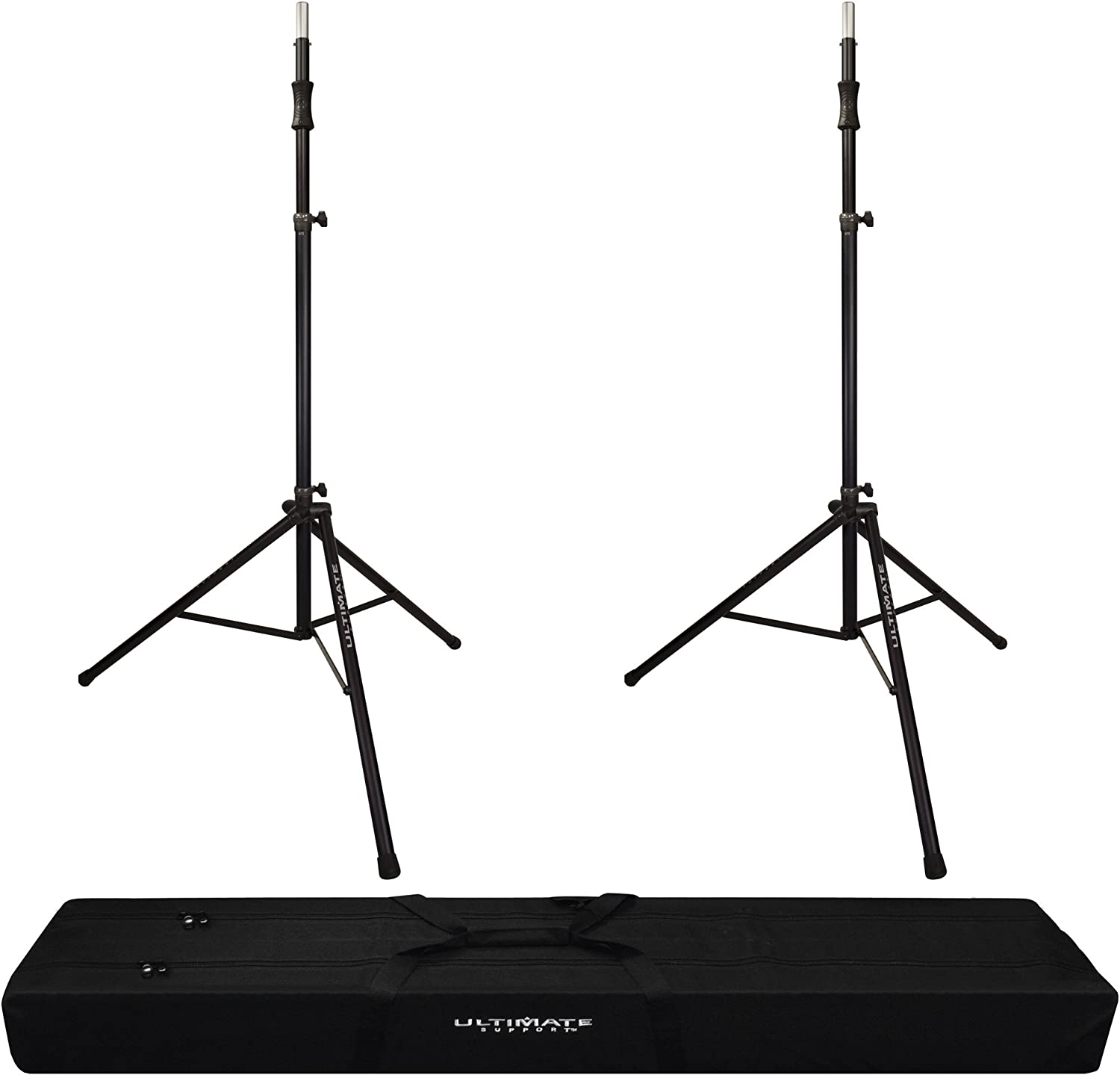 Ultimate Support TS-80B Speaker Stands-Pair w// Bag-90D Canvas Carry Bag