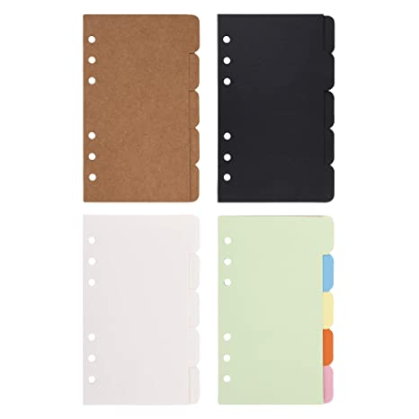 Amazon.com: Bluecell - Juego de 4 fichas de índice de papel ...