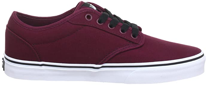 Amazon.com | Vans Men Low-Top Sneakers, Red (Oxblood/White) us 8.5 | Shoes