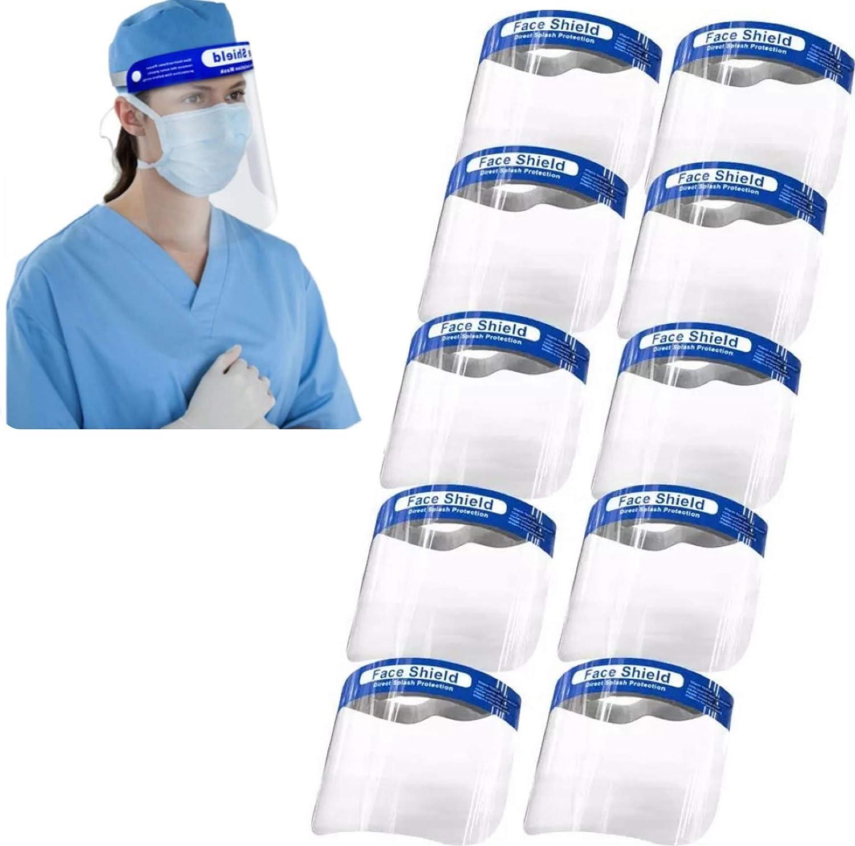 Reusable Face Shield 10PCS - Plastic Face Shield Safety Face Shield Full Face  Shield: Amazon.in: Home Improvement