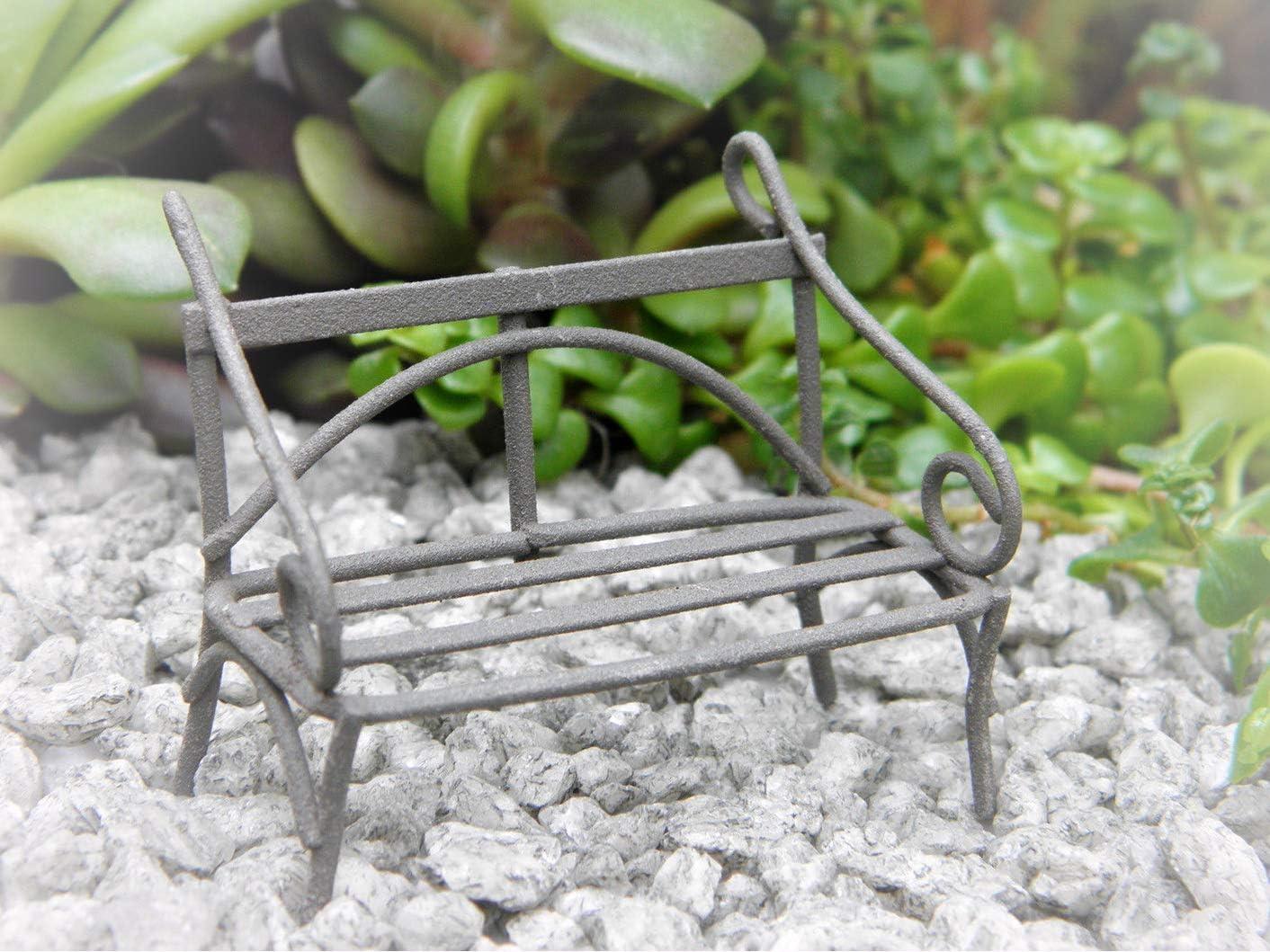 Miniature Dollhouse FAIRY GARDEN ~ Rustic White Metal Bridge ~ NEW