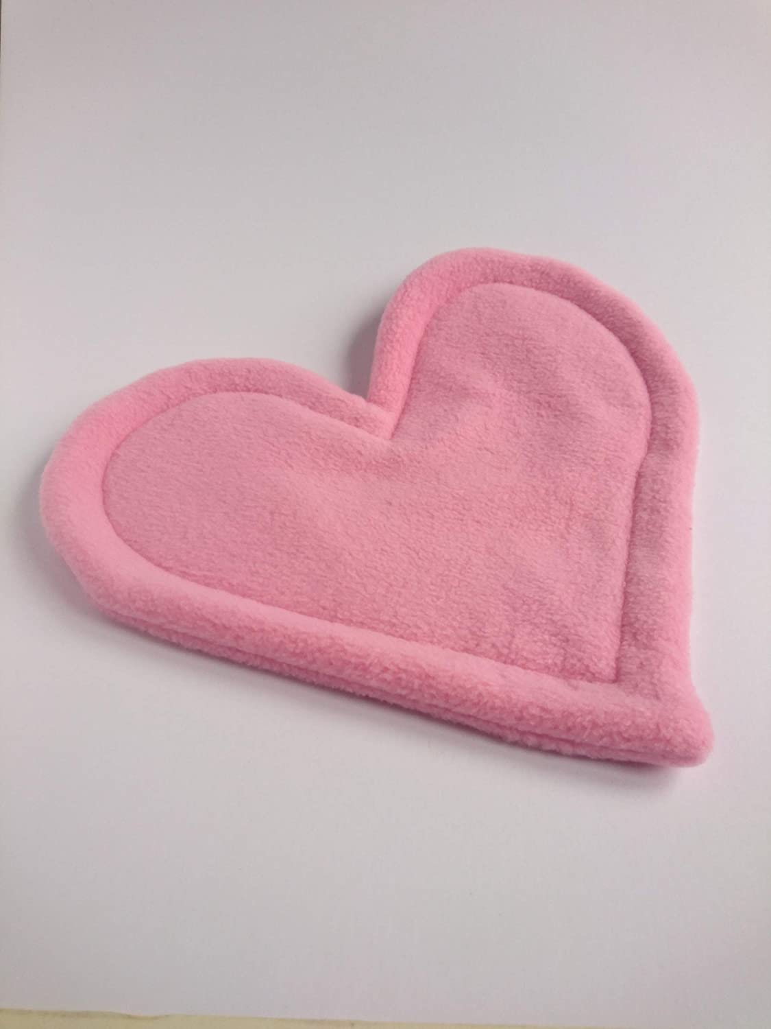 Pink Heart Shaped Fleece Pee Potty Pad with Absorbent Core for Guinea Pigs and other Small Pets