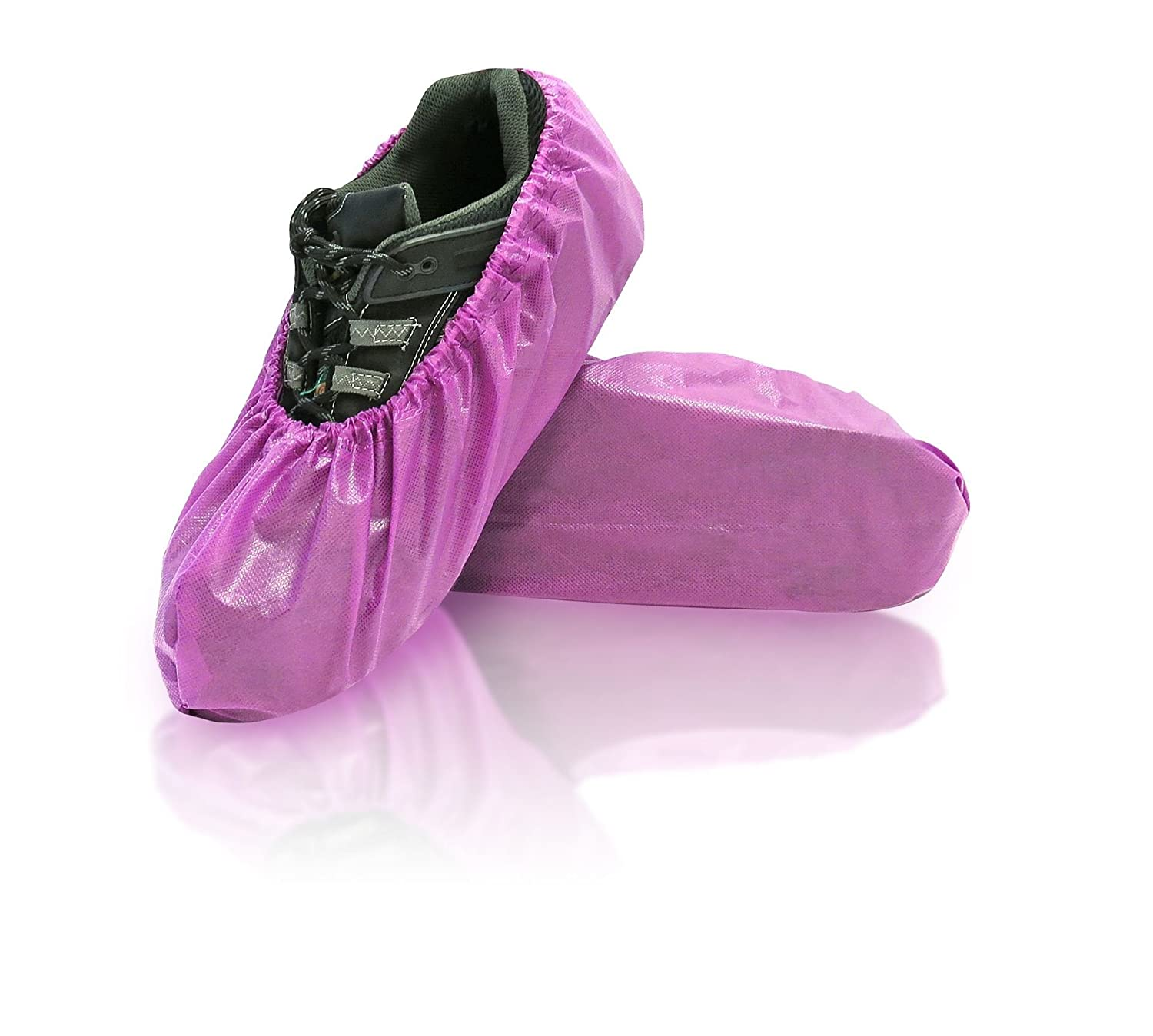BlueMed SHS-1417-C Lilly Disposable Shoe Covers Purple Polypropylene and polyethylene Fabric 6.89 x 16.54 Universal Pack of 300 6.89 x 16.54