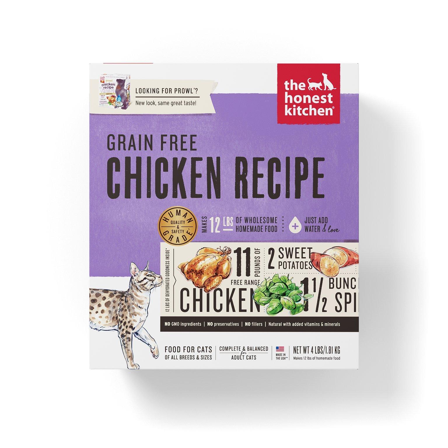 Honest Kitchen Grain Free Chicken Cat Food Recipe 4 lb Box - Prowl