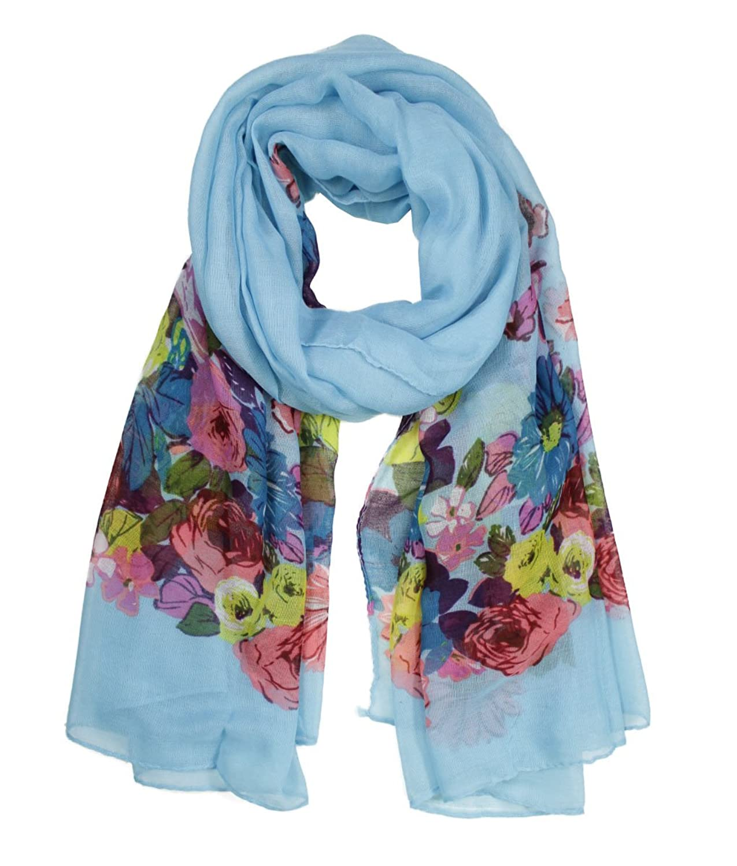 Modadorn Spring Fall New Beauty Flower Scarf Women's Fashion / Clothing / Accessories