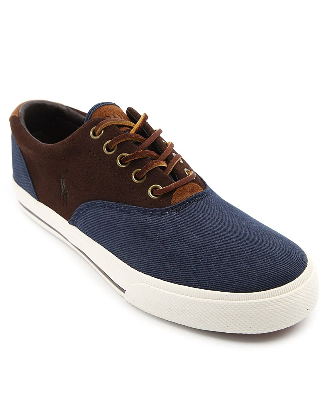 36b6569ec4 Polo Ralph Lauren - Sneakers - Men - Vaughn Brown and Blue Denim ...