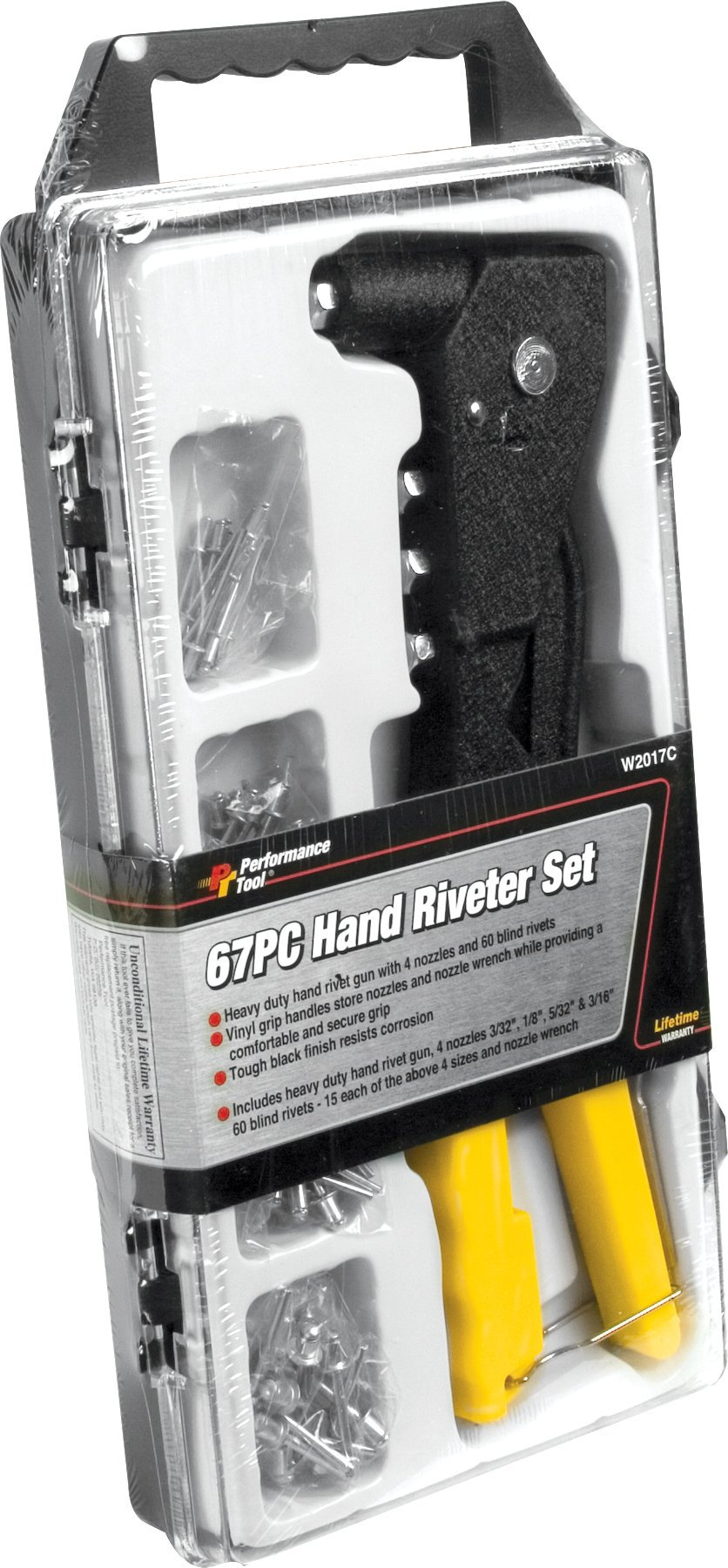 Performance Tool W2017C Hand Riveter Set, 67-Piece by Performance Tool (Image #2)