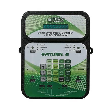 Titan Controls Digital Environmental Controller w/ Carbon Dioxide (CO2) PPM  Control, 120V - Saturn 6