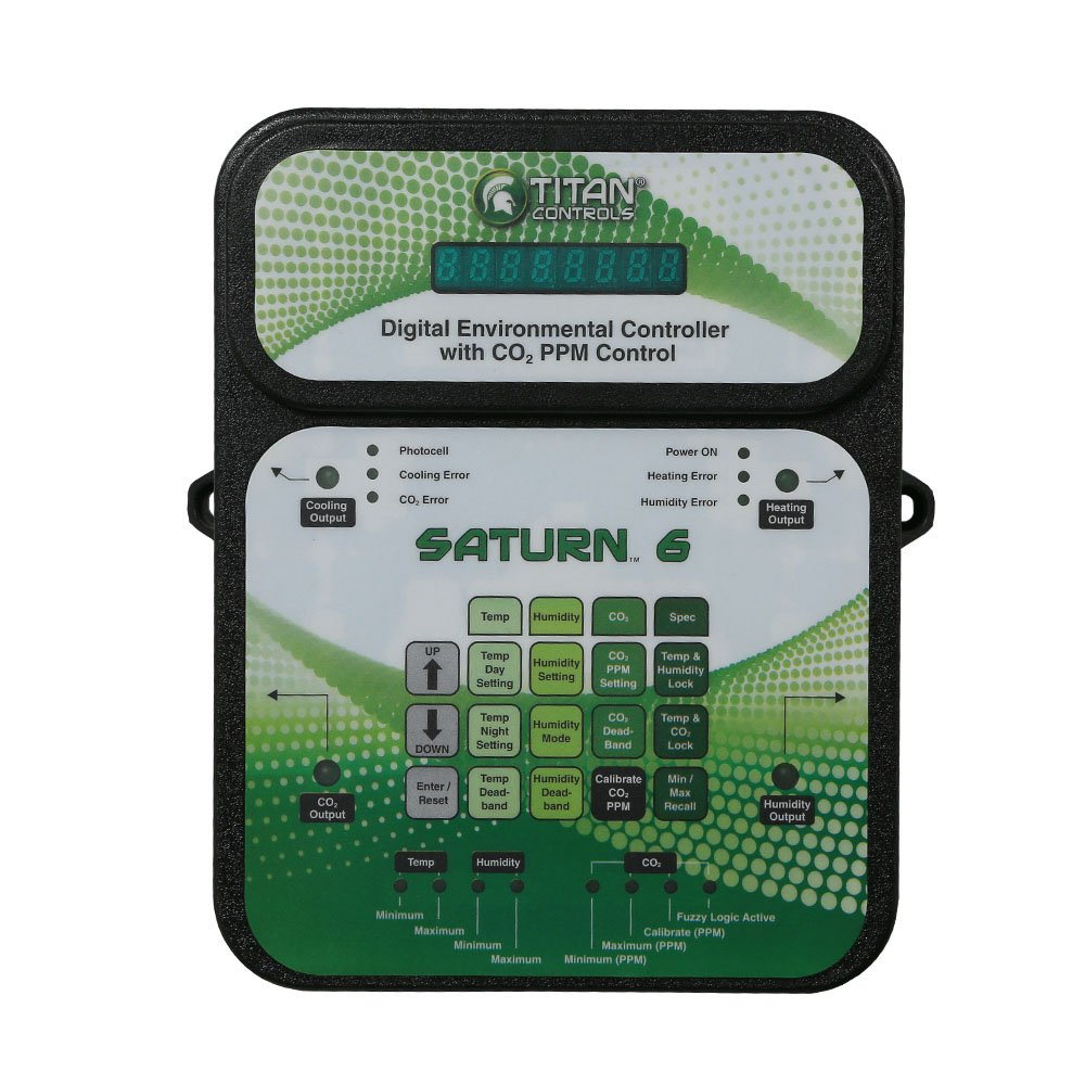 Titan Controls Digital Environmental Controller w/ Carbon Dioxide (CO2) PPM Control, 120V - Saturn 6 by Titan Controls (Image #1)