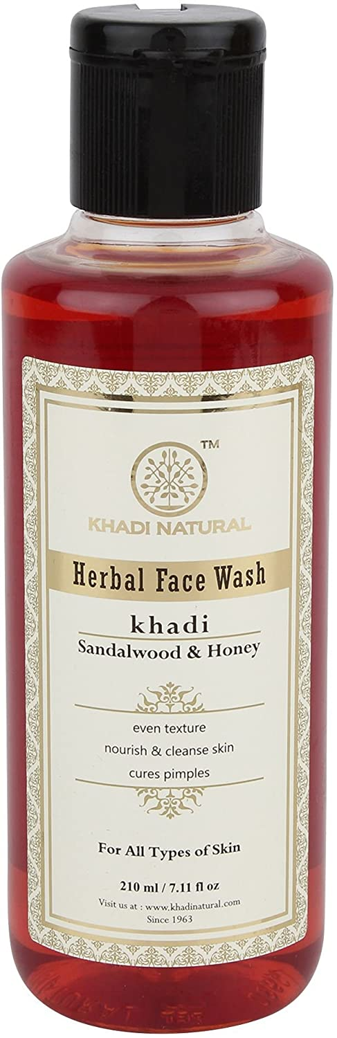 KHADI - Herbal Face Wash Sandalwood & Honey - 210ml
