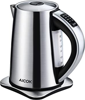 Aicok 1.7-Liter Temperature Control Stainless Steel Kettle