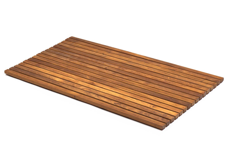 Asinox TEK4H8100Slatted Wood Shower Duckboard Brown 86x 66x 2.5cm