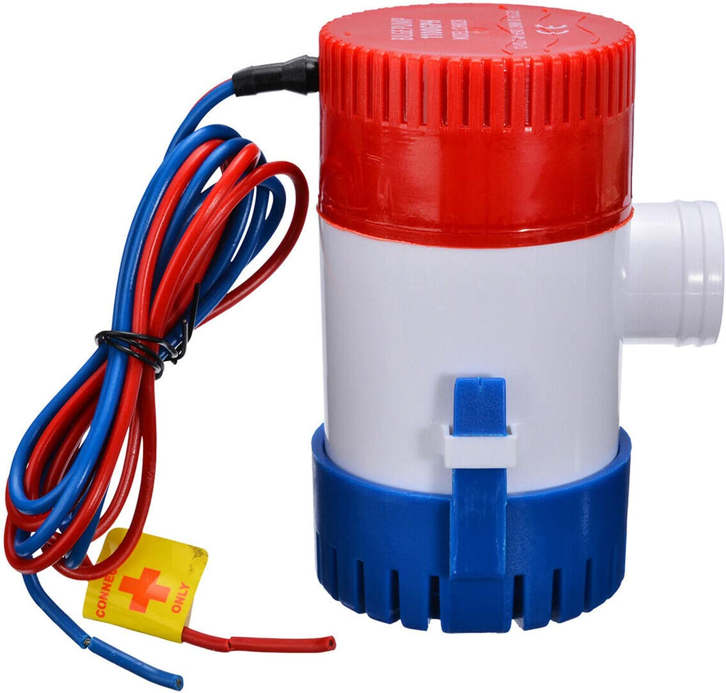 KKmoon Eléctrica Bomba de Achique, Bomba de Agua Sumergible 12v para Barcos 1100 GPH