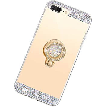 Funda Compatible con iPhone 7/8 Plus.Espejo Glitter Diamante ...