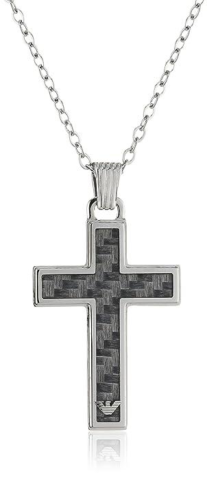 32e82d1e0 Emporio Armani Men's Black Necklace EGS1705040: Amazon.co.uk: Jewellery