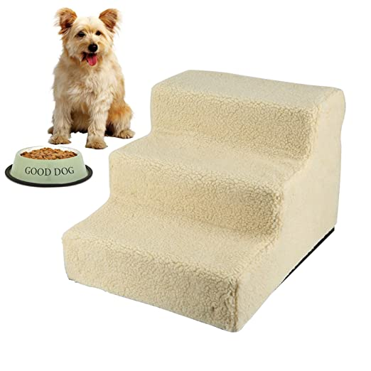 3 Steps 30cm Pet Dog Doggy Cat Stairs Ladder Soft Washable Cover Foldable Ramp