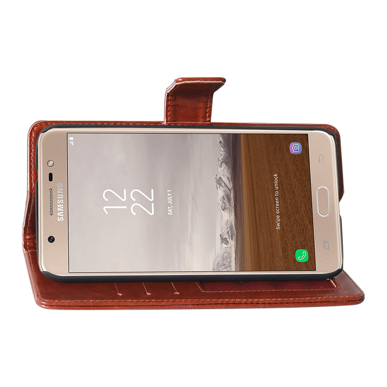 Dmg Pu Leather Wallet Case Id And Card Slots With Goospery Samsung Galaxy J7 Plus Canvas Diary Red Electronics