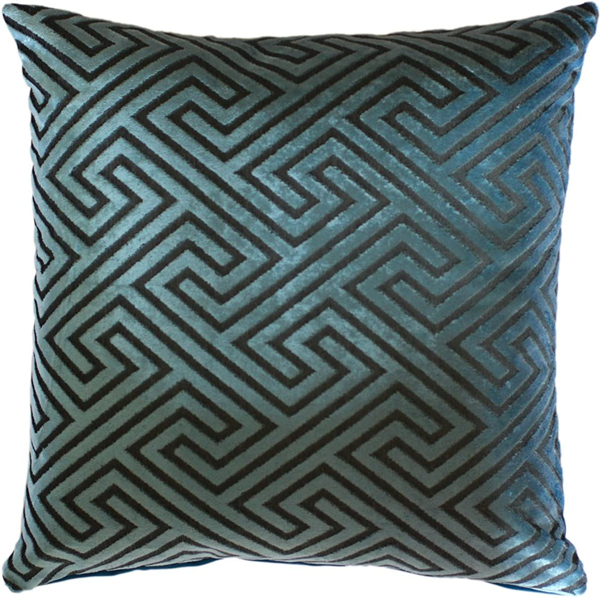 "Greek Key Design Chenille Velvet Print 16"" X 16"" Cushion Covers Pillow Sofa Bed Home, Furniture & DIY"