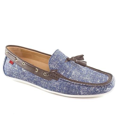 732b4bdb87b Marc Joseph New York Men s Bushwick Jeans Blue Leather Loafer 9.5