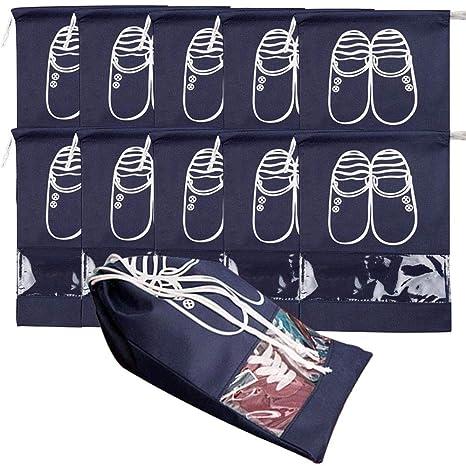 NAHUAA Bolsa de Zapatos 10pcs Bolsa para Zapatos Viajes con ...
