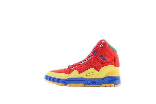 Pony - Zapatillas de baloncesto de cuero para hombre, color rojo, talla 37: Amazon.es: Zapatos y complementos
