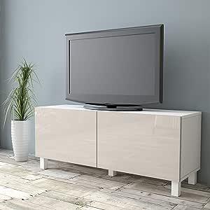 Yurupa Sparkle Mueble TV Televisor Mesa de televisión, Alto Brillo, AU2-W1W-EE: Amazon.es: Hogar