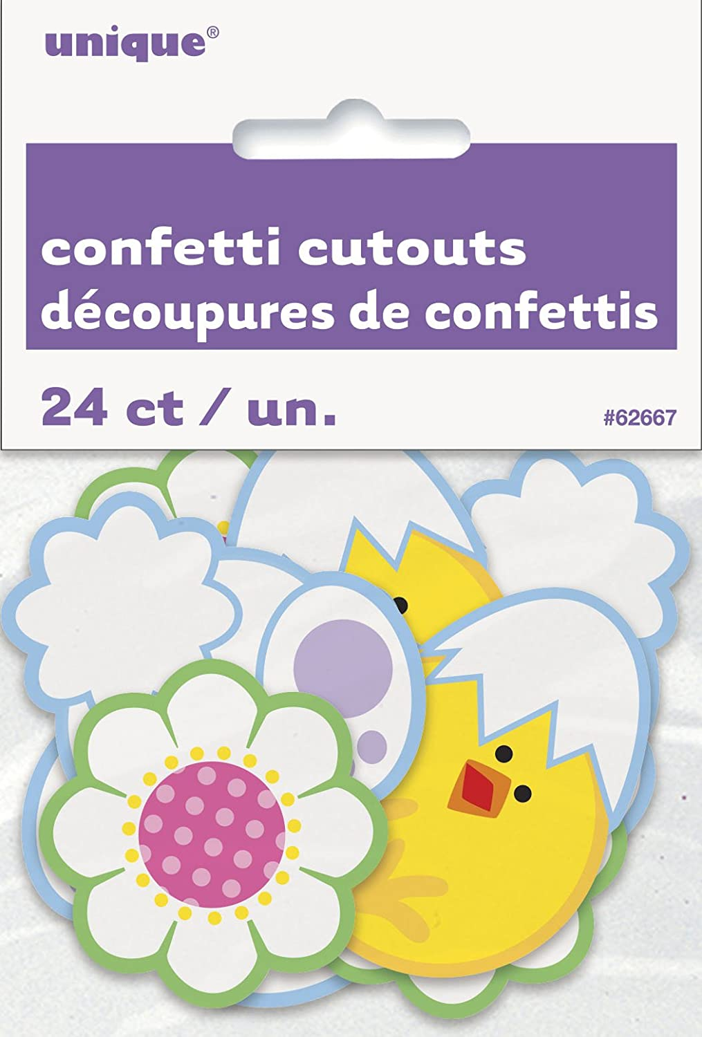 Pack of 20 Felt Easter Bunny Confetti Unique Party 61852
