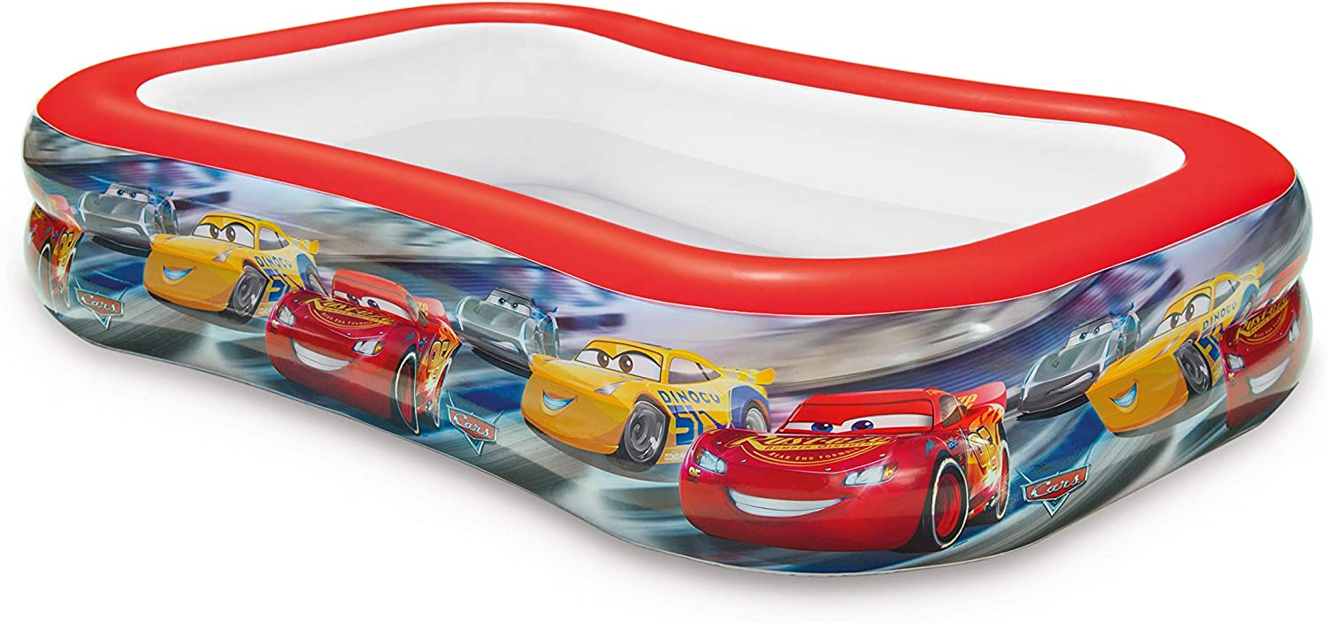 Intex 57478NP - Piscina hinchable licencia Cars 262 x 175 x 56 cm, 770 litros