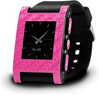 product image for Slickwraps Carbon Fiber for Pebble Watch - Retail Packaging - Pink Carbon Fiber