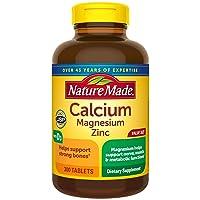 Nature Made Calcium Magnesium Zinc with Vitamin D3, 300 Count for Bone Health† (...