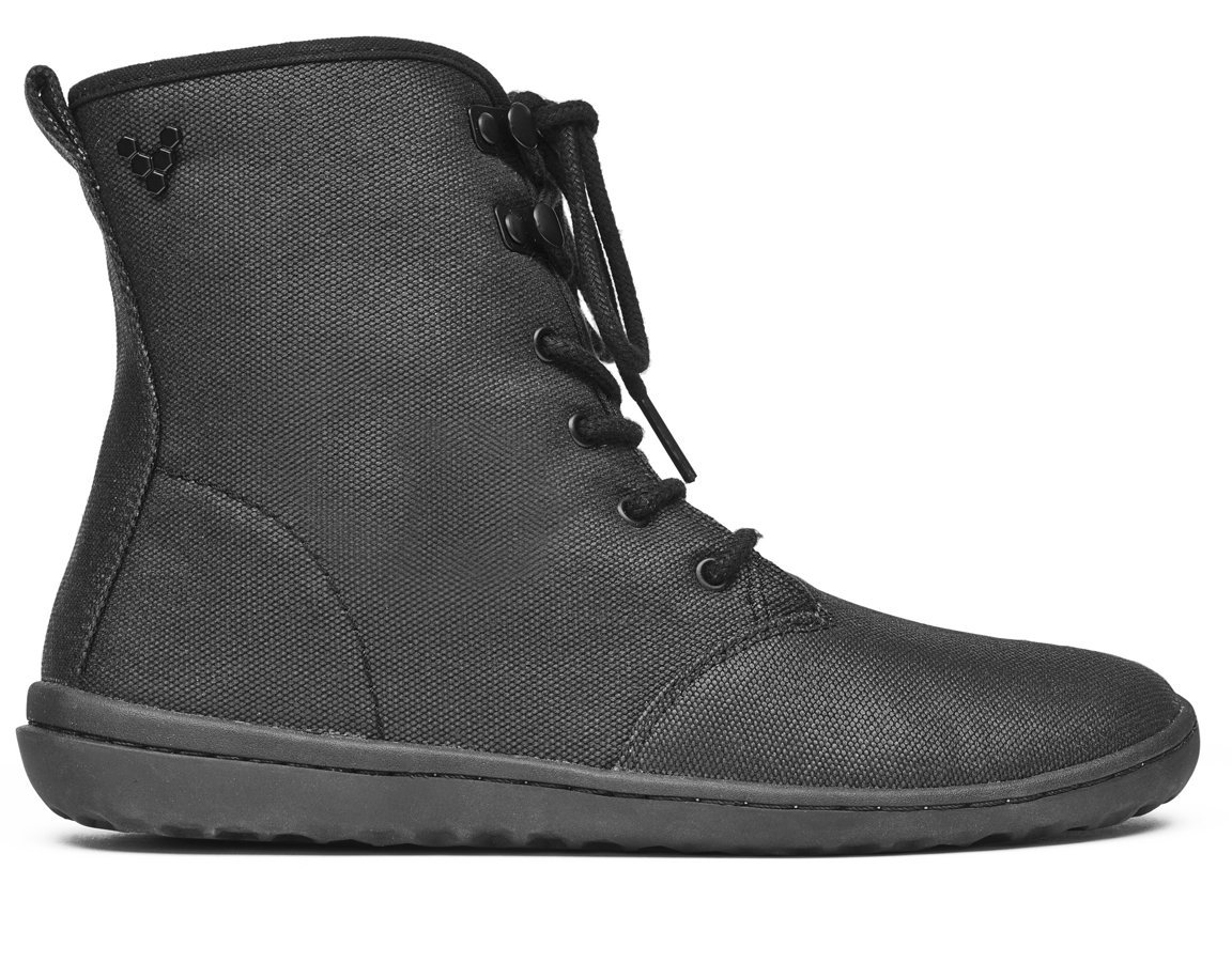 Vivobarefoot Women's Gobi HI Top Classic Lace up Winter Boot B06XCFG3GL 37 D EU (7 US)|Black