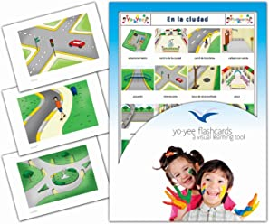 Tarjetas de vocabulario - En la Ciudad - City, Town and Traffic Flashcards in Spanish