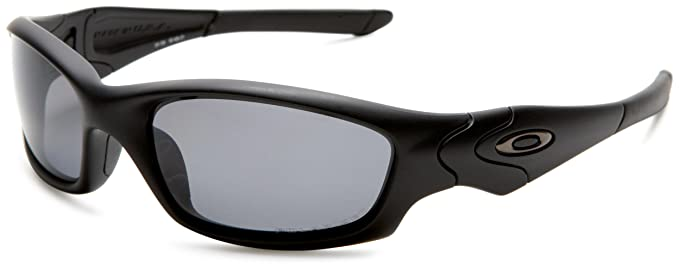 oakley sunglasses amazon  oakley men's straight jacket polarized sunglasses,matte black frame/grey lens,one size