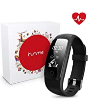 Runme Fitness Tracker, Activity Tracker with Heart Rate and Sleep Monitor, Smart Fitness Watch with Step & Calorie Counter, GPS Tracker, IP67 Waterproof Sport Band for Android/IOS Smartphone